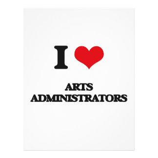 I love Arts Administrators Flyers