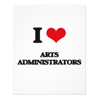 I love Arts Administrators Personalized Flyer