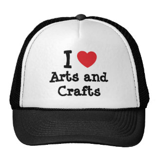 I love Arts and Crafts heart custom personalized Hat