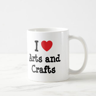 I love Arts and Crafts heart custom personalized Coffee Mugs