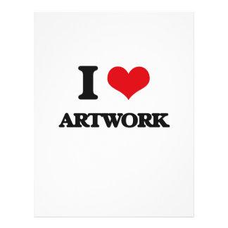 I Love Artwork Flyer