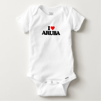I LOVE ARUBA BABY ONESIE