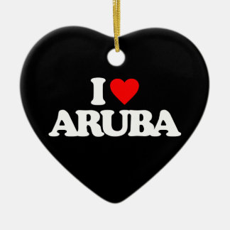 I LOVE ARUBA CHRISTMAS ORNAMENT