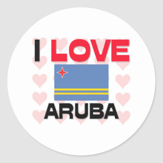 I Love Aruba Classic Round Sticker