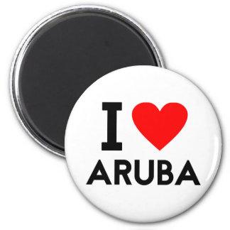 i love Aruba country nation heart symbol text Magnet