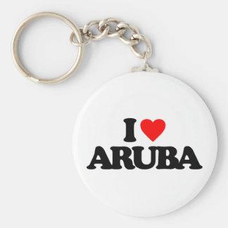 I LOVE ARUBA KEY RING