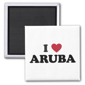I Love Aruba Square Magnet