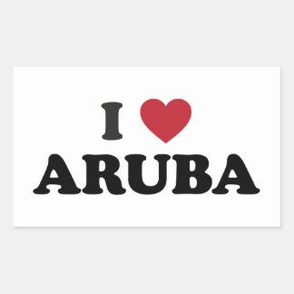 I Love Aruba Rectangular Sticker