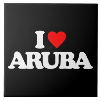 I LOVE ARUBA CERAMIC TILE
