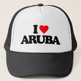 I LOVE ARUBA TRUCKER HAT