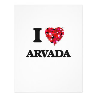 I love Arvada Colorado 21.5 Cm X 28 Cm Flyer