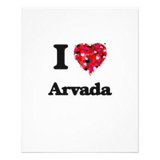 I love Arvada Colorado 11.5 Cm X 14 Cm Flyer