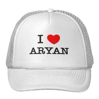 I Love Aryan Mesh Hat