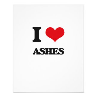 I Love Ashes 11.5 Cm X 14 Cm Flyer