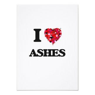 I Love Ashes 13 Cm X 18 Cm Invitation Card