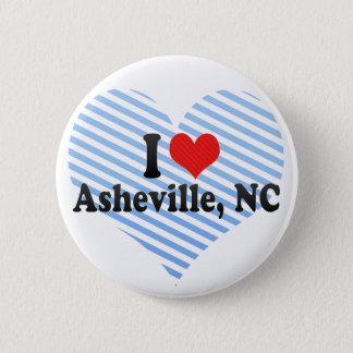 I Love Asheville, NC 6 Cm Round Badge