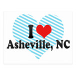I Love Asheville, NC Post Cards