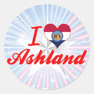 I Love Ashland, Missouri Round Stickers