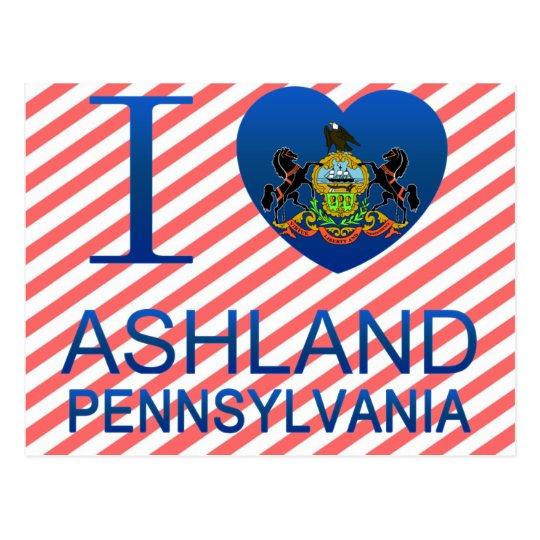 I Love Ashland, PA Postcard