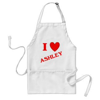 I Love Ashley Standard Apron