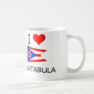 I Love Ashtabula Ohio Basic White Mug