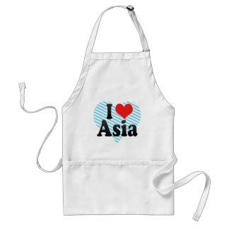 I Love Asia Adult Apron