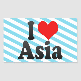I love Asia Rectangular Sticker
