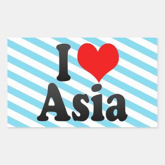 I love Asia Rectangular Sticker
