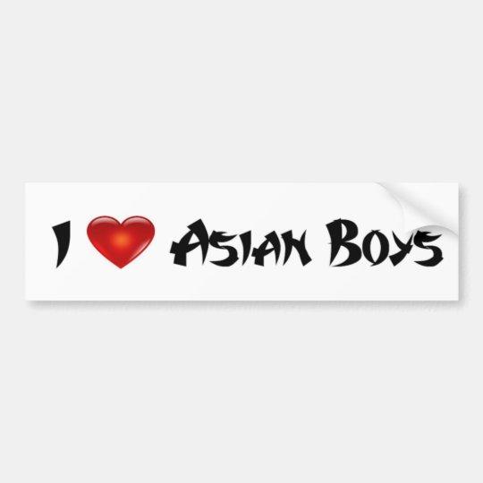 I Love Asian Boys Bumper Sticker