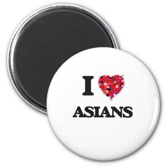 I Love Asians 6 Cm Round Magnet