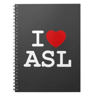 I Love ASL Notebook