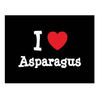 I love Asparagus heart T-Shirt Postcard