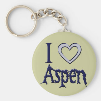 i love aspen key ring