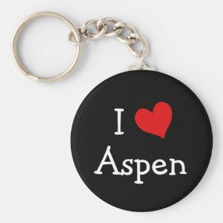 I Love Aspen Key Ring