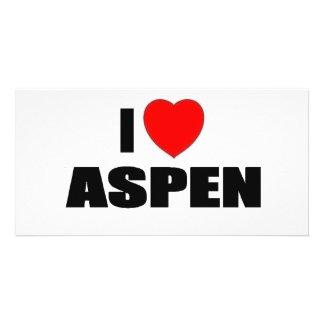 I Love Aspen Personalised Photo Card