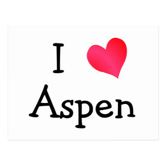 I Love Aspen Postcard
