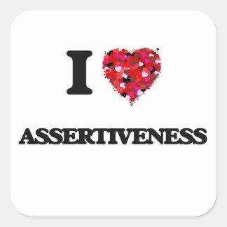 I Love Assertiveness Square Sticker