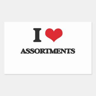 I Love Assortments Rectangle Sticker