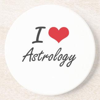 I Love Astrology Artistic Design Coaster