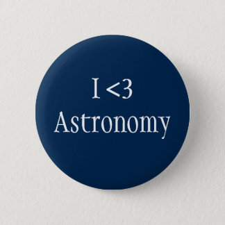 I Love Astronomy 6 Cm Round Badge