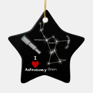 I Love Astronomy Christmas Ornament