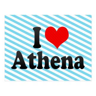 I love Athena Postcard