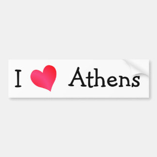 I Love Athens Bumper Sticker