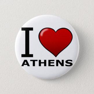 I LOVE ATHENS,GA - GEORGIA 6 CM ROUND BADGE