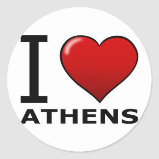 I LOVE ATHENS,GA - GEORGIA CLASSIC ROUND STICKER