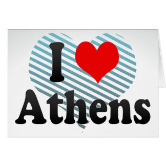 I Love Athens Greece Greeting Card