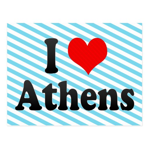 I Love Athens, Greece Post Card