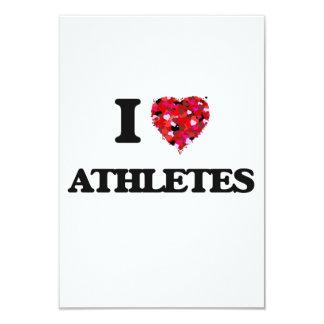 I Love Athletes 9 Cm X 13 Cm Invitation Card