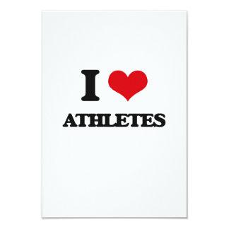 "I Love Athletes 3.5"" X 5"" Invitation Card"