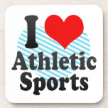 I love Athletic Sports Beverage Coasters